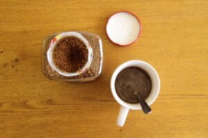flatlay of instant coffee 300x199 - How Instant Coffee Is made